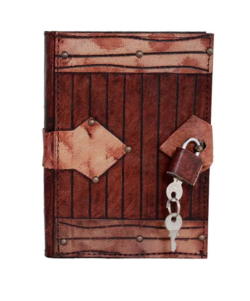 Padlock Engraved Leather Journal
