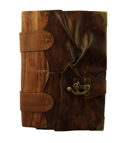 Plain wrinkle leather journal on sale