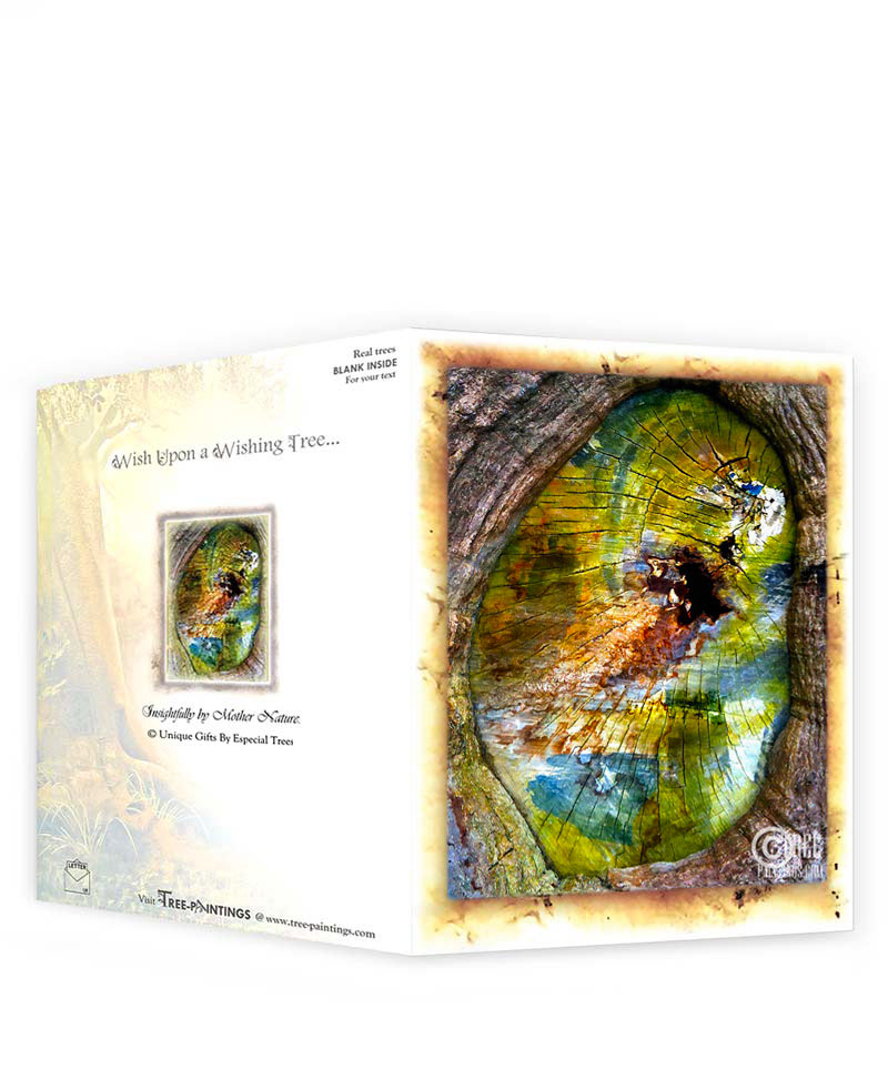 Tree artwork greeting card