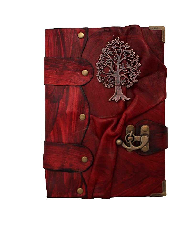 Tree Emblem Red Journal