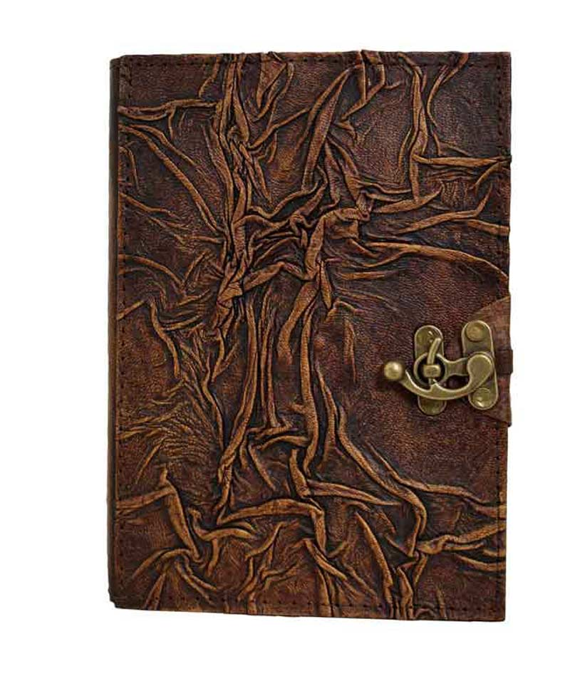 wrinkle pattern leather journal on sale